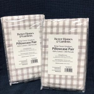 2 sets King Size Pillow Cases (4 total)